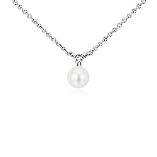 Freshwater Cultured Pearl Pendant with Sterling Silver (6-6.5mm)