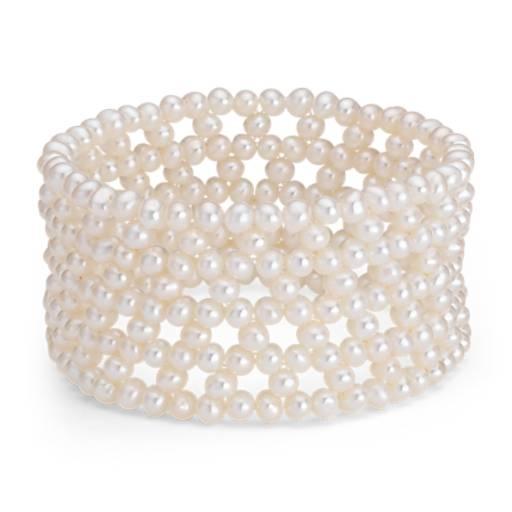 Bracelet manchette de perles de culture d'eau douce (4mm)