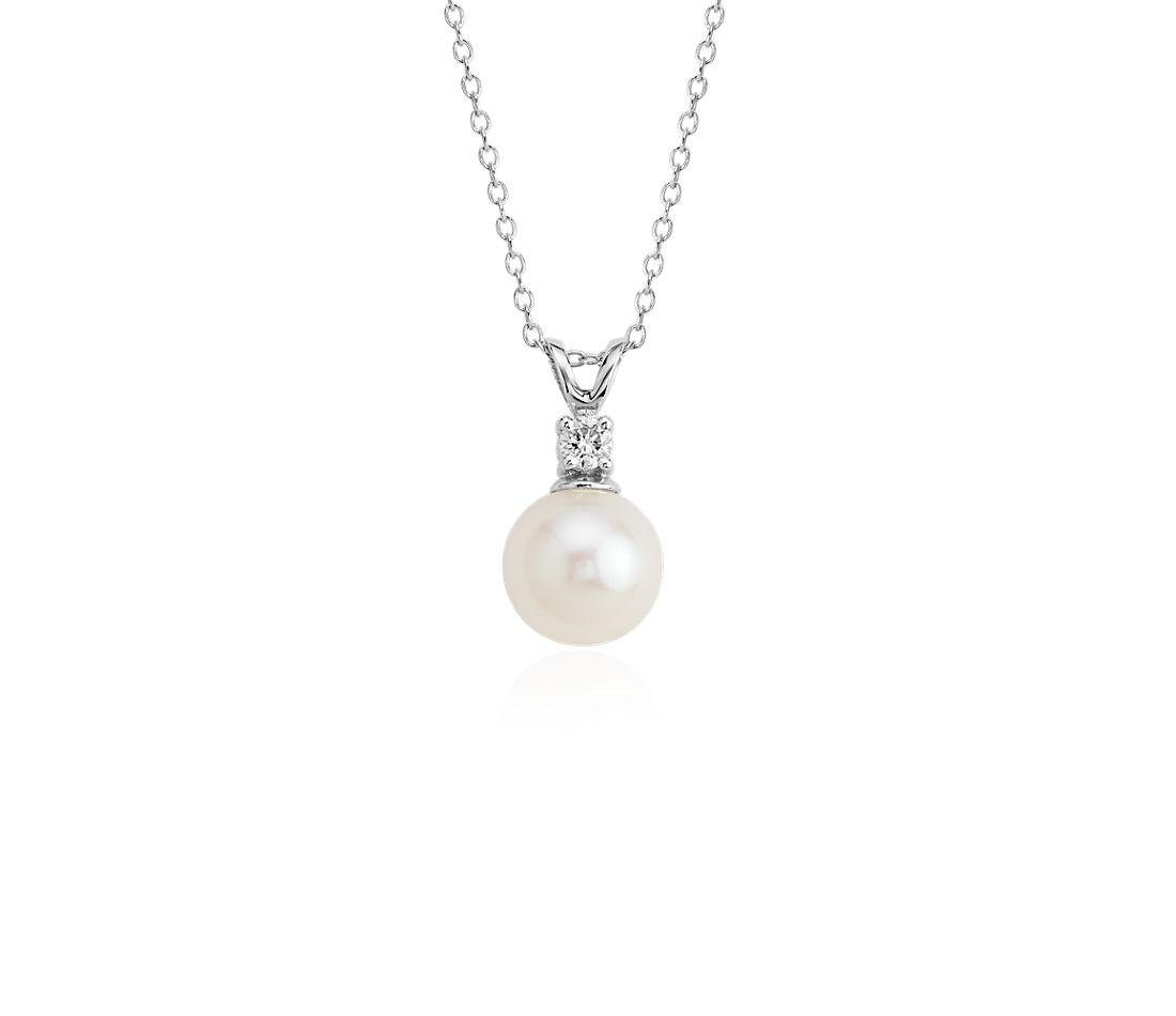 pearl white pendant diamond south pendants index sea aa