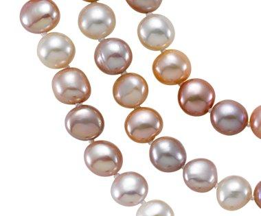 Collier de perles de culture d'eau douce pastel avec argent sterling - 54