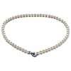 Collier fermoir cœur perles de culture d'eau douce en or blanc 14carats