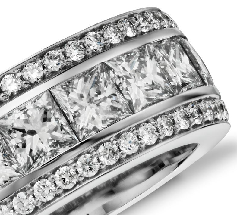 gala princess cut and pav 233 eternity ring in 18k
