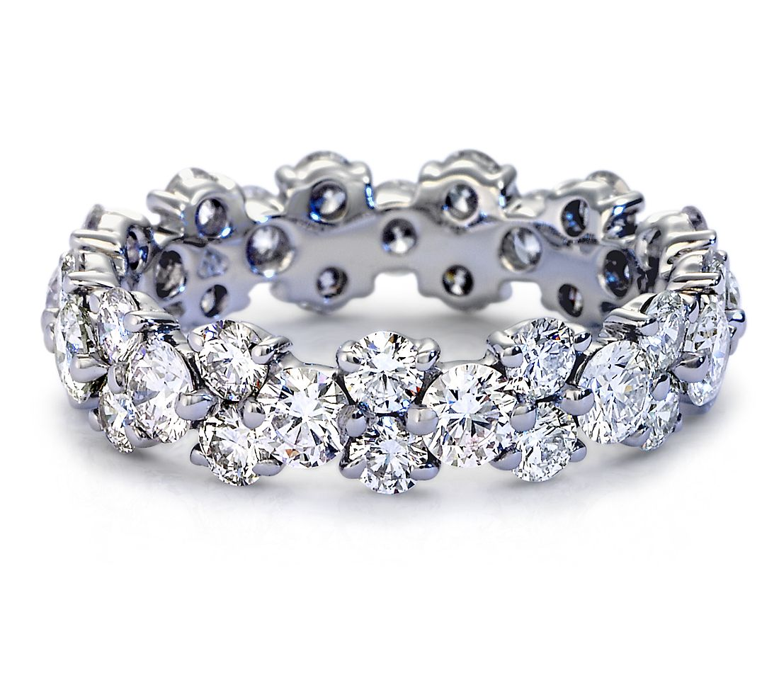 Garland Diamond Eternity Ring In Platinum 2 5 Ct Tw