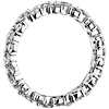 Anillo de eternidad de diamantes con forma de guirnalda en platino (2,5 qt. total)
