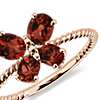 Garnet Butterfly Ring in 14k Rose Gold