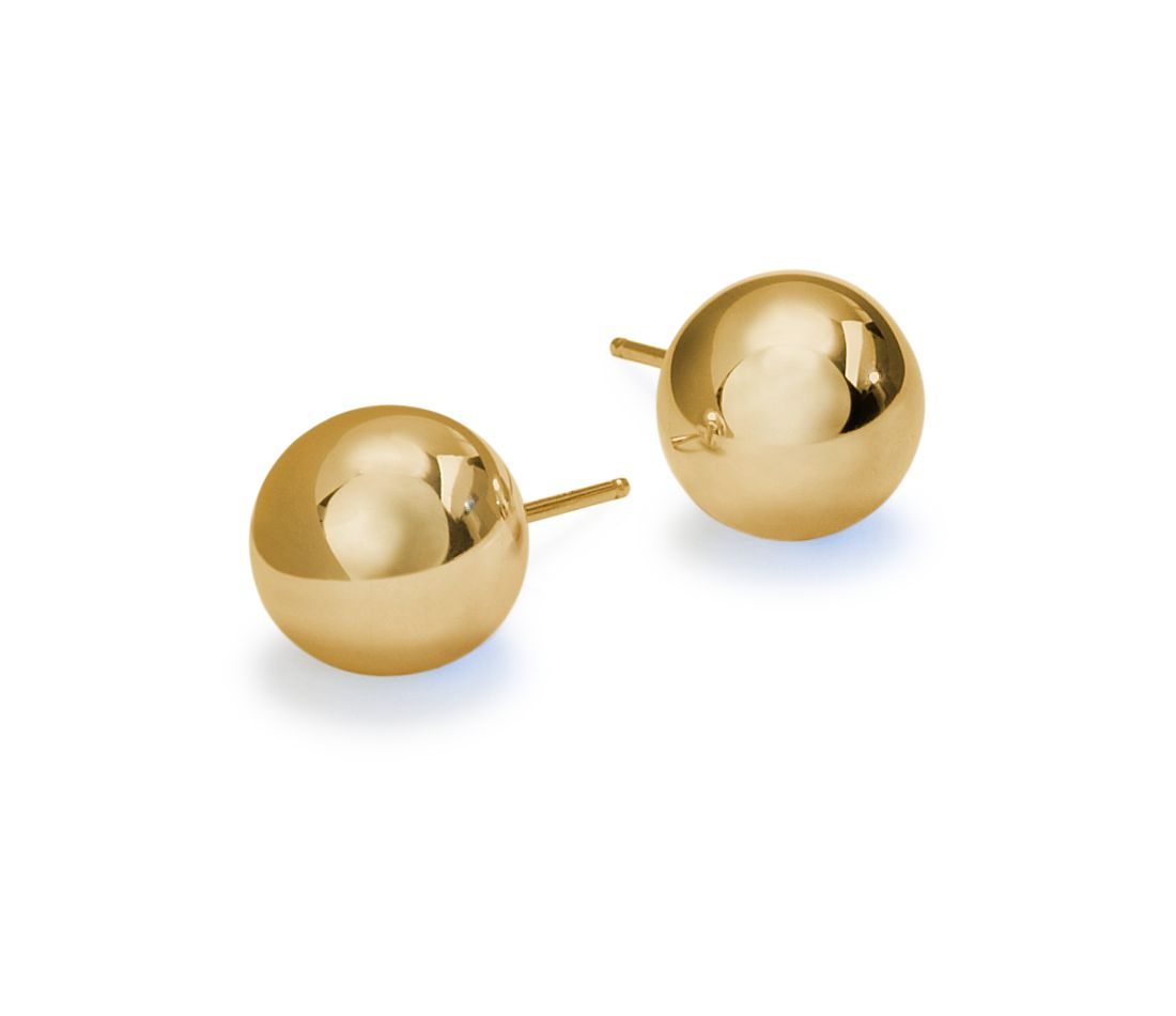 Ball Earrings in 14k Yellow Gold (6mm)
