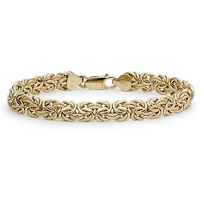 Byzantine Bracelet in 18k Yellow Gold