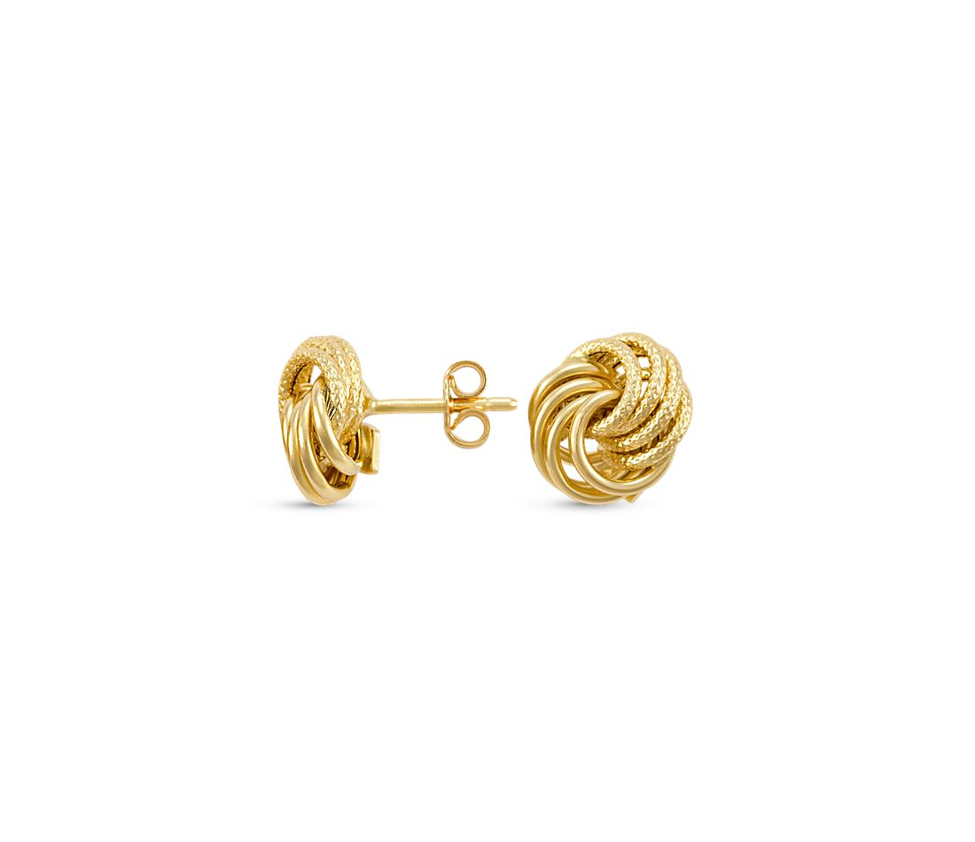 Rosetta Love Knot Earrings in 14k Gold