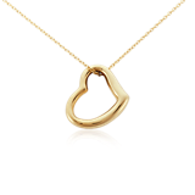 Open Heart Pendant in 14k Yellow Gold