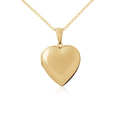 Sweetheart Locket Pendant in 14k Yellow Gold