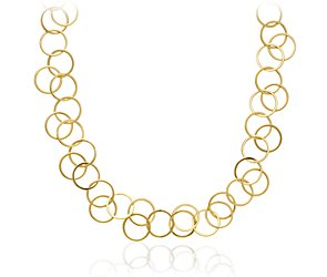 Circle Link Necklace in 18k Yellow Gold