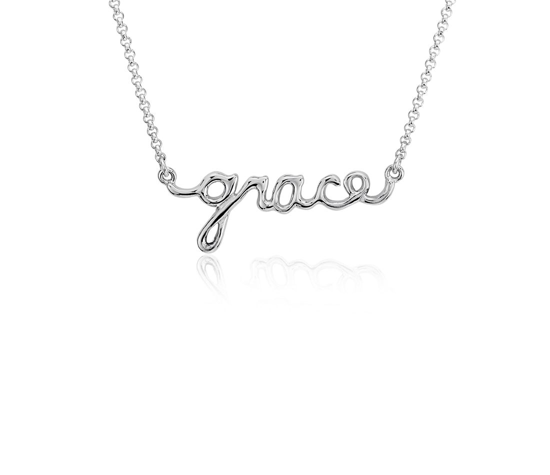 """Grace"" Necklace in Sterling Silver"