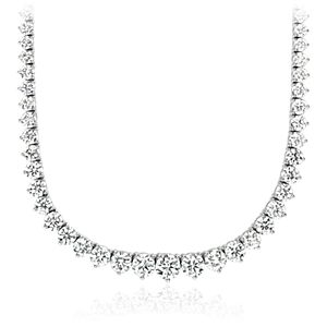 NEW Graduated Diamond Eternity Necklace in 18k White Gold (15 ct. tw.)