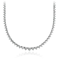 Collier d'éternité en diamants gradués en Or blanc 18 ct (7 carats, poids total)