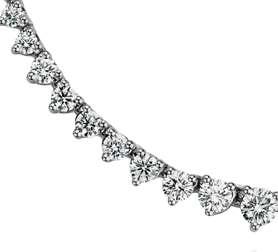 Graduated Diamond Eternity Necklace in 18k White Gold (7 ct. tw.)