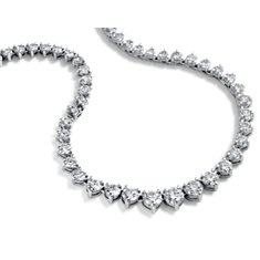 Collier d'éternité en diamants gradués en Or blanc 14 ct (10cttw)