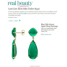 Green Agate Drop Earrings featured in Real Beauty