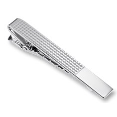 Grid Tie Bar in Sterling Silver