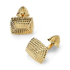 Grommet Cuff Links in Yellow Gold Vermeil