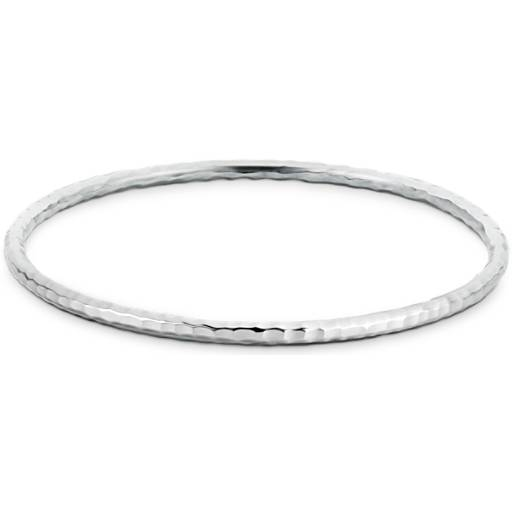 Hammered Bangle Bracelet in Sterling Silver