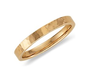 Hammered Ring in 14k Yellow Gold