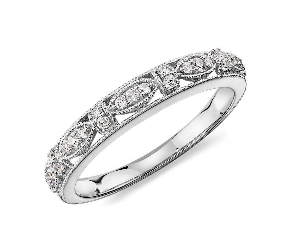 Heirloom Diamond Ring in 14k White Gold