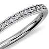Petite bague diamants sertis pavé bijou de famille en platine (1/8carat, poids total)
