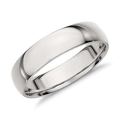 Mid-weight Comfort Fit Wedding Ring in Platinum (5mm)