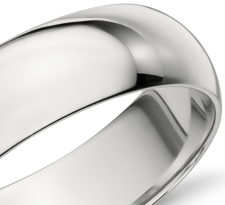 Mid-weight Comfort Fit Wedding Ring in Platinum (6mm)