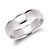 Mid-weight Domed Comfort Fit Wedding Ring in Platinum (6mm)
