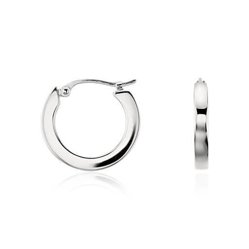 Hoop Earrings in Platinum