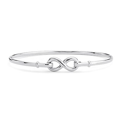 Infinity Bangle Bracelet in Sterling Silver