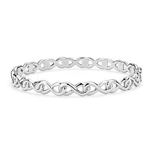 NEW Infinity Bangle in Sterling Silver