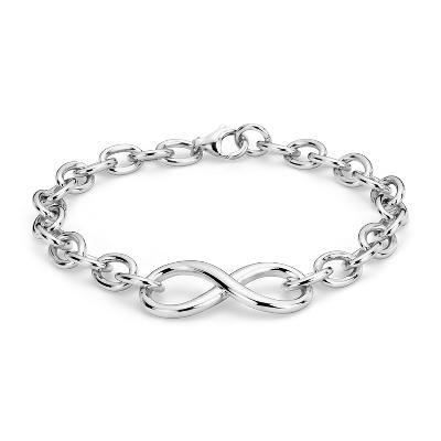 Infinity Chain Bracelet in Sterling Silver