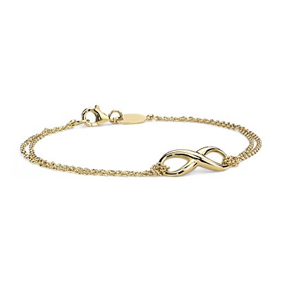 NEW Infinity Chain Bracelet in Yellow Gold Vermeil