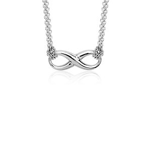 Infinity Chain Necklace in Sterling Silver