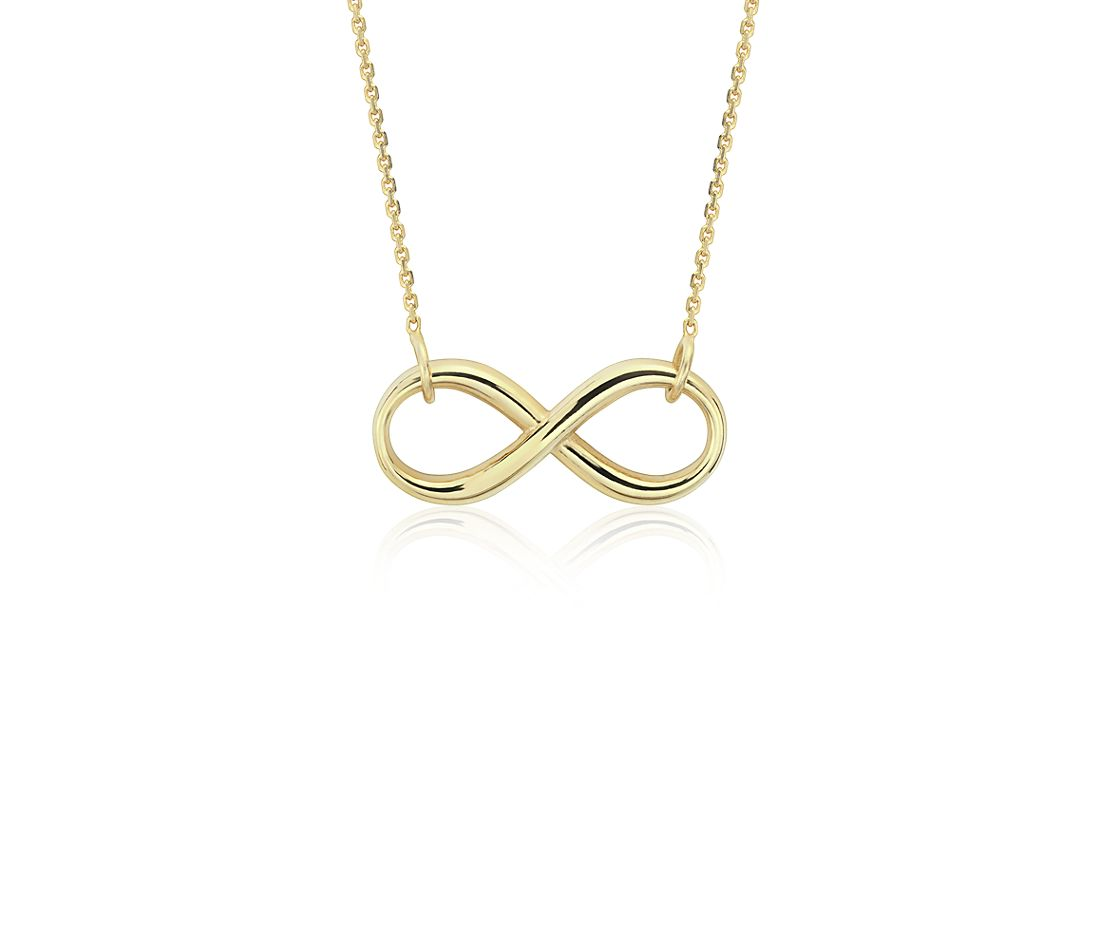 infinity necklace in 14k yellow gold blue nile