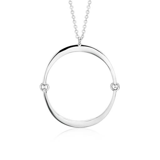 NEW Angela George Inner Circle Pendant in Sterling Silver