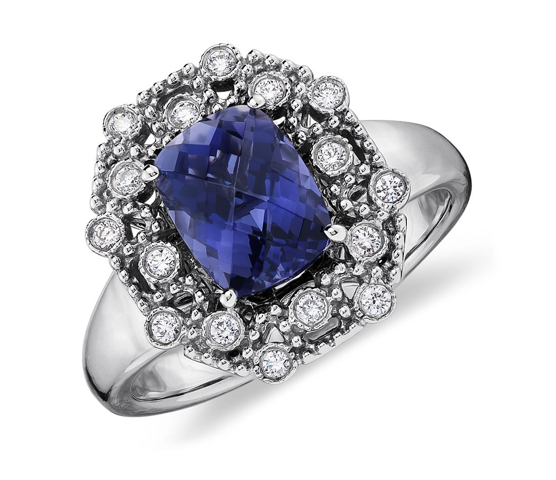 Iolite Engagement Ring