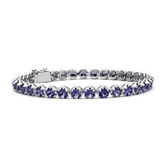 Iolite Bracelet in Sterling Silver (4mm)