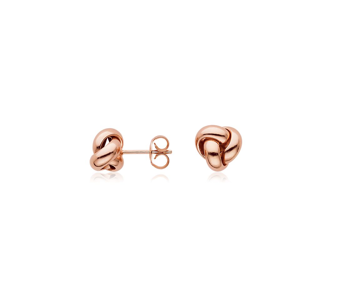 Knot Earrings in 14k Rose Gold