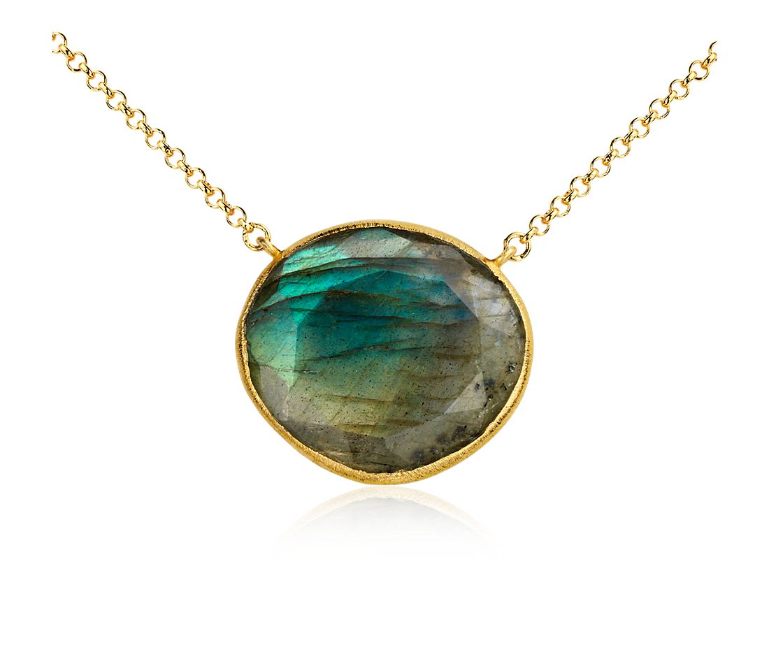 Labradorite Necklace in Gold Vermeil