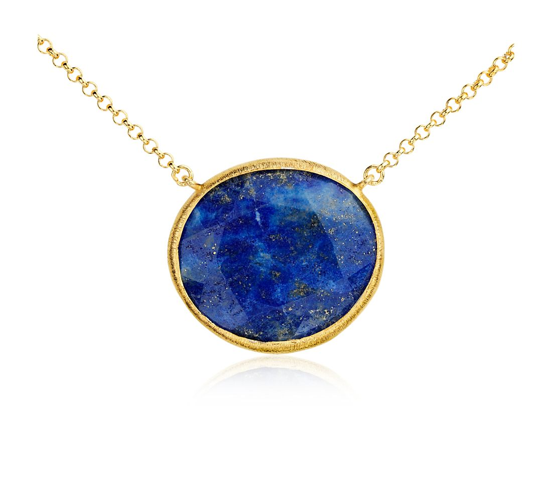 Lapis Necklace in Gold Vermeil