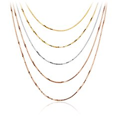 Layered Chain Necklace in Gold Vermeil