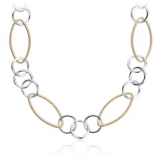 Layering Necklace in Plata de ley and Plata bañada en oro amarillo de 18 k - 91,4 cm de largo