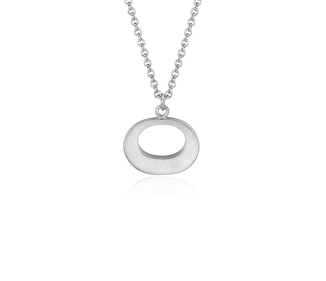 Bree Richey Oval Pendant in Satin Sterling Silver