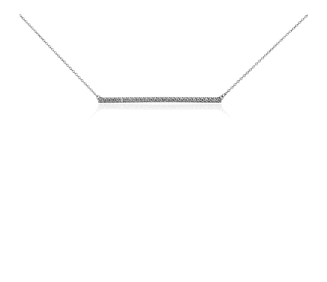 Bar Diamond Necklace in 14k White Gold (3/8 ct. tw.)
