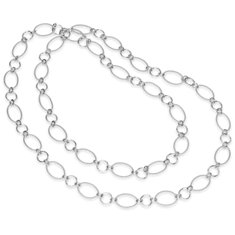 "Circlet Link Necklace in Sterling Silver - 42"" Long"