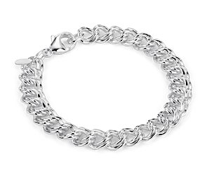 Duo Linked Bracelet in Sterling Silver