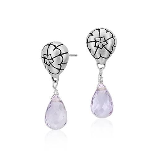 Lisa Jenks Amethyst Drop Earrings in Sterling Silver